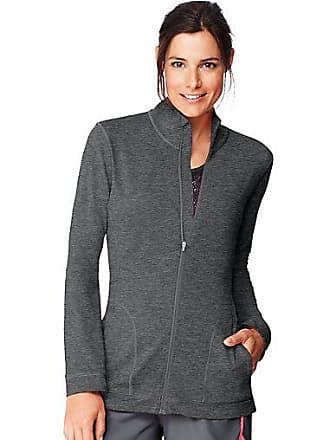 Hanes Sport Womens Performance Zip Up Jacket Granite Heather 2XL