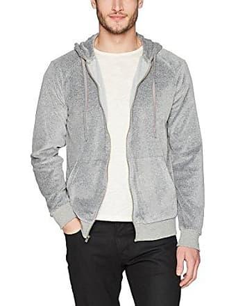 2(x)ist Mens Velour Zip-Up Hoodie Sweater, Black, X-Large