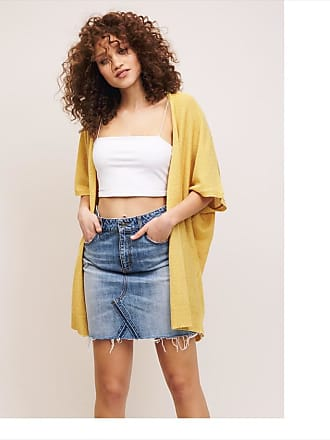 Dynamite Light Open Front Cardigan Rattan Yellow