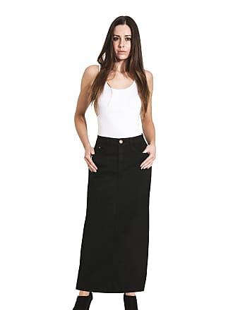 d267f672a Uskees Jessica Long Denim Skirt - Black Maxi Jean Skirt UK Size10-22  JESSICABLACK-