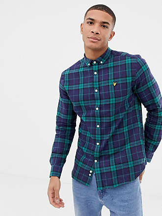 Lyle & Scott regular fit long sleeve check shirt in green