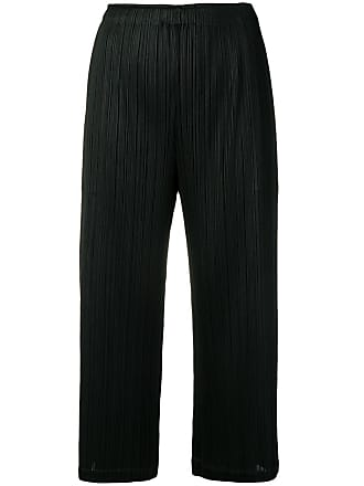 Issey Miyake cropped pleated trousers - Black