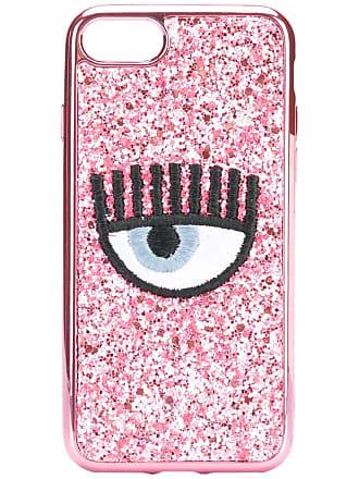 Chiara Ferragni Capa para iPhone 7 com glitter - Rosa