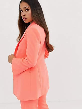 b98e9e8cfb02 Asos Petite ASOS DESIGN petite fluro pink suit blazer - Pink