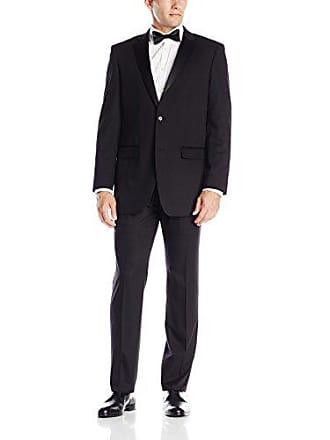 b7f0e4c4ef66ca Perry Ellis Mens Two Button Slim Fit Tuxedo, Black, 46 Regular