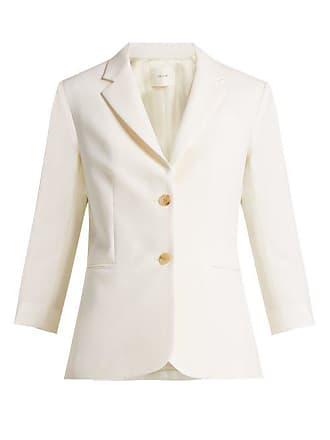 The Row Schoolboy Wool Blend Blazer - Womens - White
