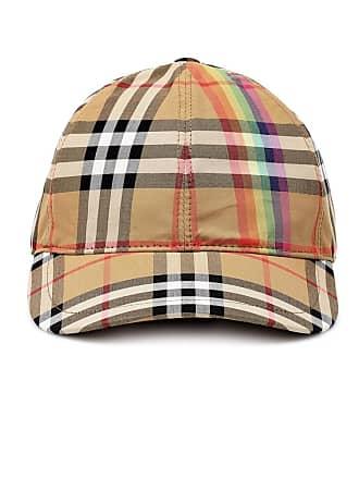 Burberry Cappello da baseball a quadri in cotone e92260181467