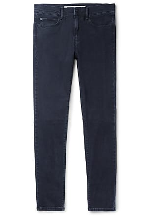 McQ by Alexander McQueen Strummer Skinny-fit Panelled Stretch-denim Jeans - Blue