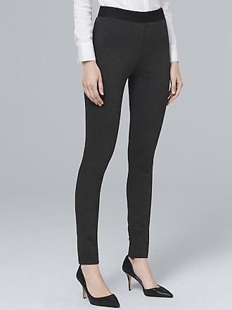 White House Black Market Womens Body Comfort Side-Zip Pants by White House Black Market, Heather Coal, Size 10 - Regular