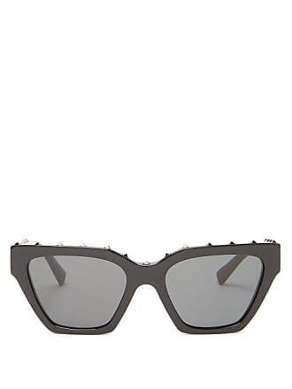 32373dec3eb16 Valentino Rockstud Cat Eye Sunglasses - Womens - Black