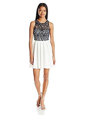 3af7237578fa2 My Michelle Sequin Hearts Juniors Sleeveless Cut Out Dress, Ivory/Navy, 3