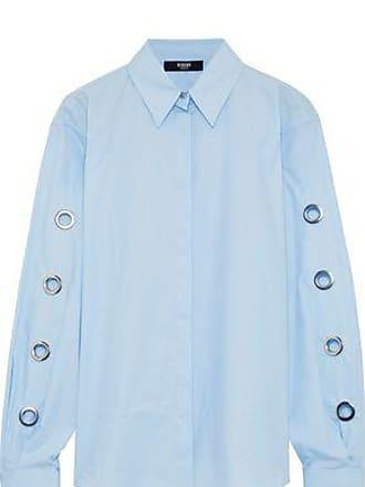733926c5 Versus Versus Versace Woman Eyelet-embellished Cotton-poplin Shirt Light  Blue Size 38