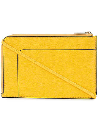 Valextra Bolsa transversal Invisible - Amarelo