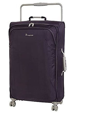IT Luggage IT Luggage 31.5 Worlds Lightest 8 Wheel Spinner, Purple Pennant With Cobblestone Trim