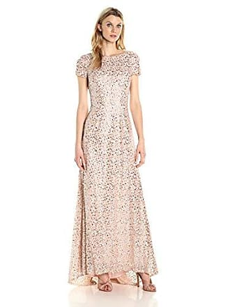 Decode 1.8 Womens Fully Sequined Evening Dress, Blush, 0