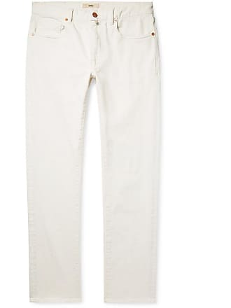 Incotex Slim-fit Stretch-denim Jeans - White