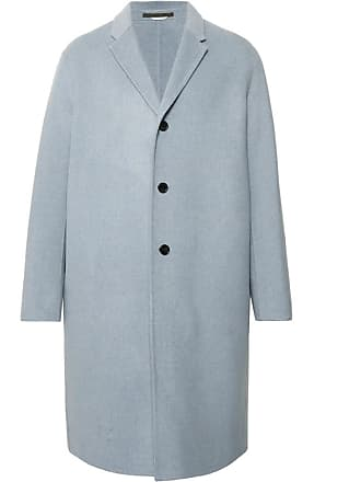 Acne Studios Chad Oversized Wool And Cashmere-blend Coat - Sky blue