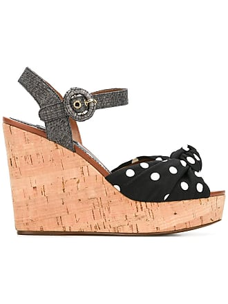 2a8ccb6e9bef Dolce   Gabbana polka dot wedge sandals - Black