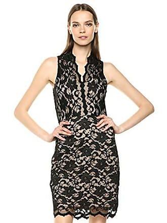 Karen Kane Womens Sleeveless LACE Dress, Black with Nude, Extra Large