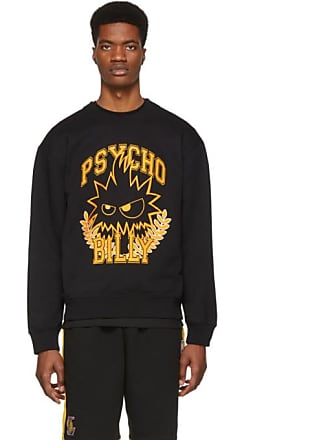 McQ by Alexander McQueen Black and Yellow Psycho Billy Slouch Sweatshirt b9ff48c57fe