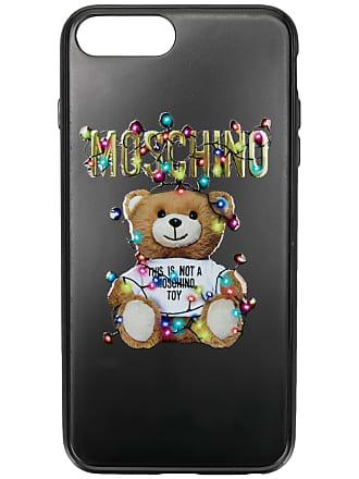Moschino toy print iPhone case - Black
