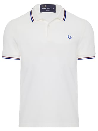 Fred Perry POLO MASCULINA TWIN TIPPED - BRANCO