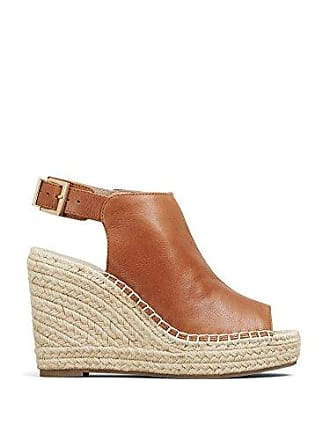 d7de396c035 Kenneth Cole Womens Olivia Espadrille Wedge Sandal Medium Brown 5 M US