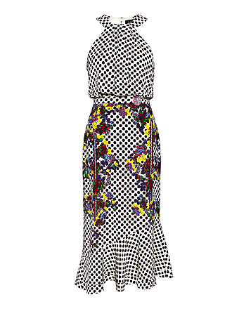a89b8d04038 Saloni Ruby Polka-Dot Embellished Silk Midi Dress Polka Kaffir