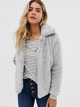 Urban Bliss Faith faux fur jacket-Grey