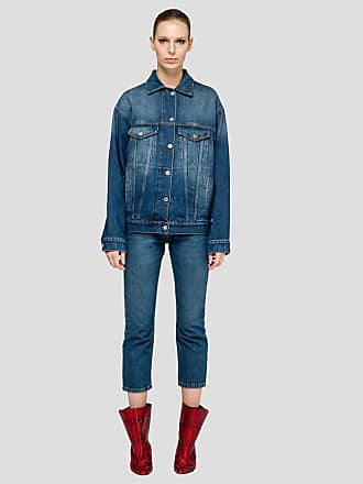 Msgm denim trousers with print on the back