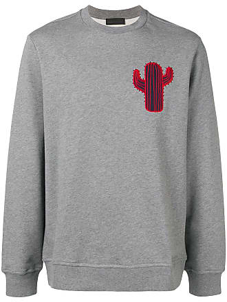 Diesel boxy sweatshirt with cactus patch - Grey