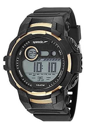 Speedo Relógio digital Speedo masculino a prova dágua Preto