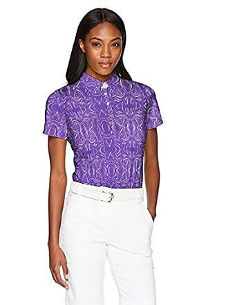 ee8974cb Cutter & Buck Womens Moisture Wicking Drytec 50+ UPF Allegra Print Polo  Shirt, Grape. In high demand