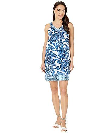 b59524e9a2 Tommy Bahama Mosaic Palm Mix Short Dress (Island Navy) Womens Dress