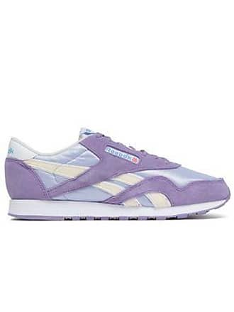 f12b57d72b5 Reebok Reebok Woman Suede And Stretch-knit Sneakers Lavender Size 6.5