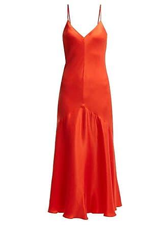 Mara Hoffman Seraphina Bias Cut Satin Twill Dress - Womens - Red