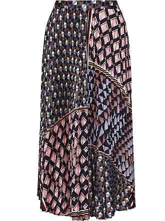 d5a63d393 Reiss Leah - Geo Knife Pleated Midi Skirt in Multi, Womens, Size 10