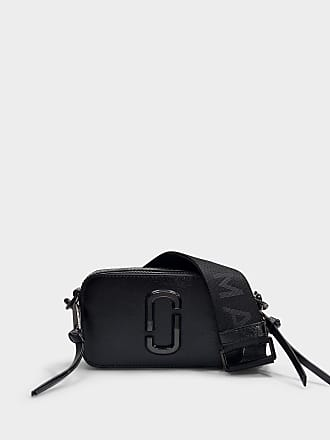 6ef38ab2a5d0 Marc Jacobs Snapshot DTM Bag in Black Split Cow Leather with Polyurethane  Coating