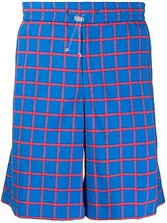 WWWM - What We Wear Matters Shorts xadrez slim - Azul
