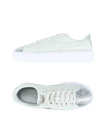 Puma Basket Platform Canvas Wns - CALZATURE - Sneakers   Tennis shoes basse 24323500e3d