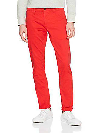 7d5664981d Tommy Jeans Herren Basic Slim Ferry Chino Slim Hose Rot (Racing Red 683) W31