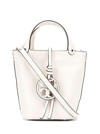 Tory Burch logo plaque bucket bag - Branco