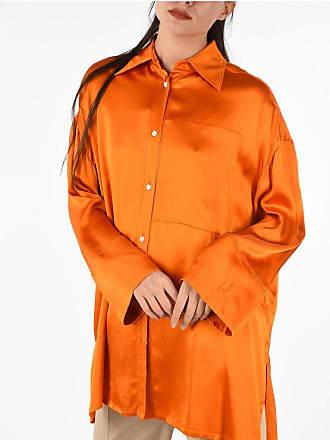 Loewe satin asymmetrical cut blouse Größe M