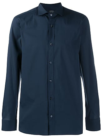 Ermenegildo Zegna cutaway collar shirt - Blue