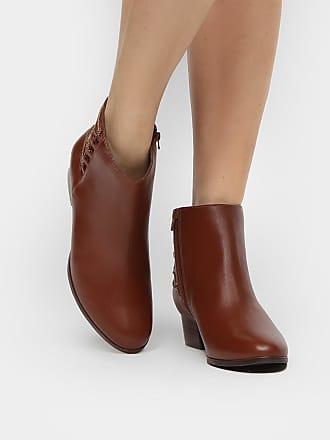 72b4c06677 Shoestock Bota Couro Shoestock Cano Curto Correntes Feminina - Feminino