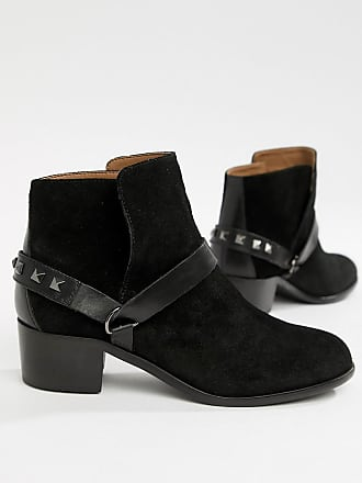 Hudson H By Hudson Leather Ankle Boots - Black