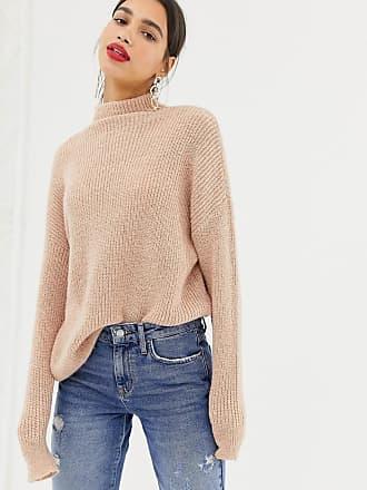 Vero Moda Aware Oversized Funnel Neck Sweater - Beige