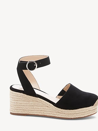 Sole Society Womens Channing Espadrille Wedges Black Size 6 Fabric From Sole Society