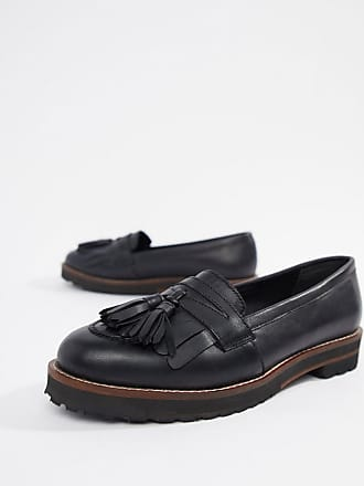 Asos Maxfield leather fringed loafers - Black