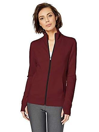 Amazon Essentials Womens Studio Terry Long-Sleeve Full-Zip Jacket, Windsor Wine, S